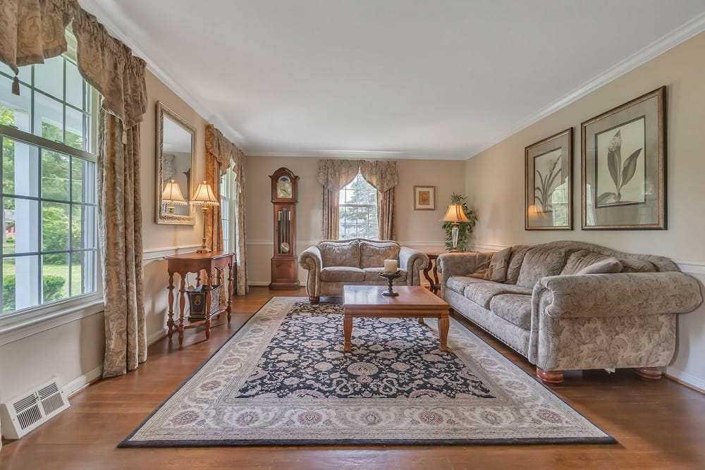 Real Estate Photography in Cherry Hill - Living Area View