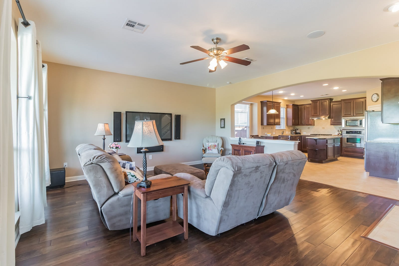 Real Estate Photography in Round Rock - TX - Living Area View