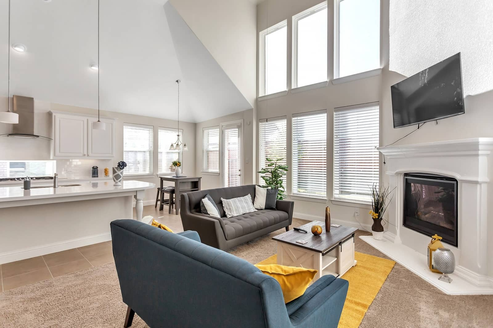Real Estate Photography in Irving - TX - Living Area View