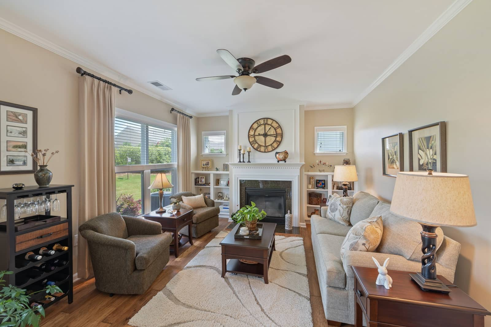 Real Estate Photography in Durham - NC - USA - Living Area View