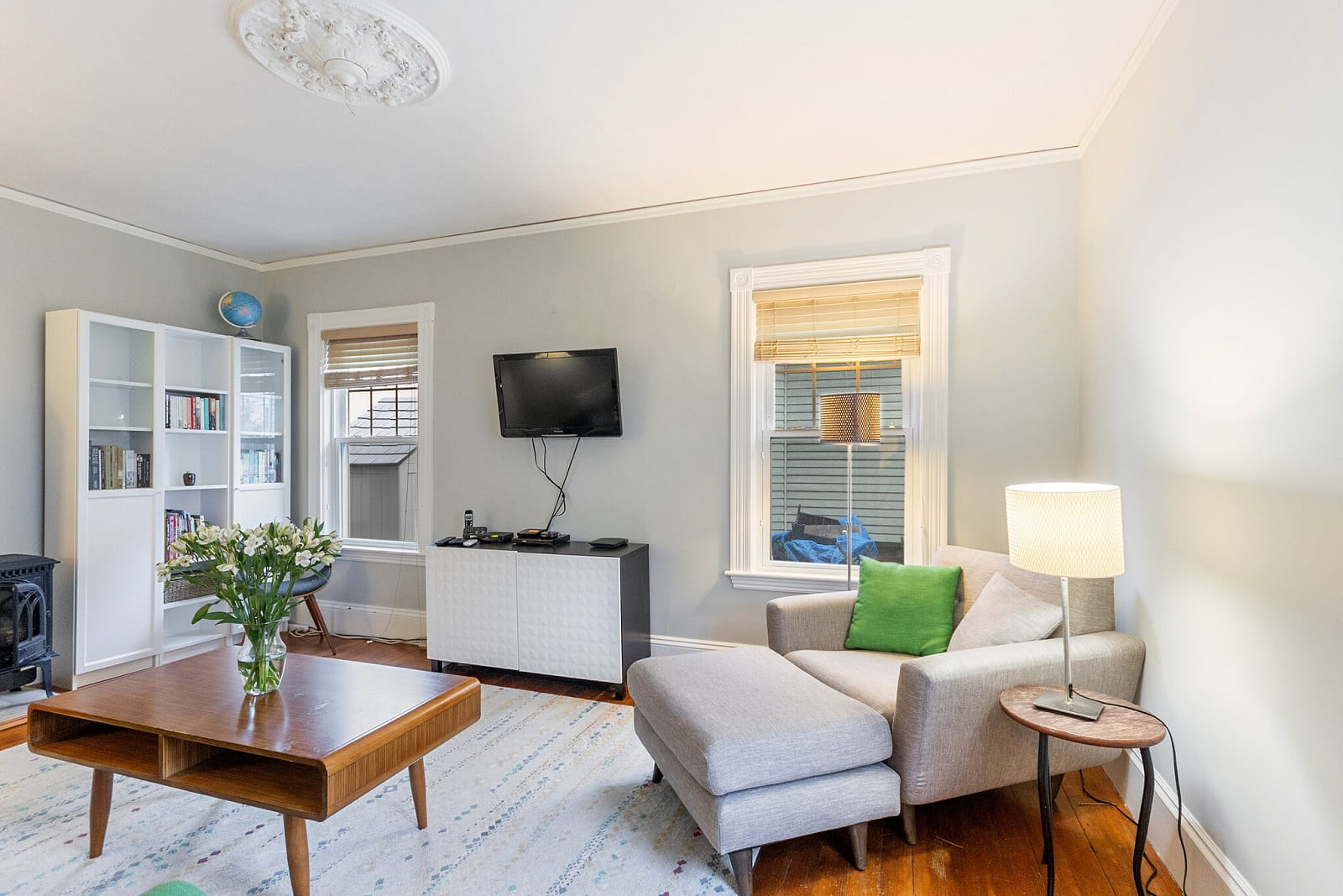 Real Estate Photography in Cambridge - MA - USA - Living Area View
