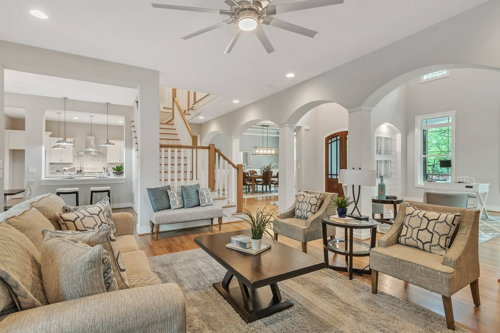 Real Estate Photography in Raleigh - NC - USA - Living Area View
