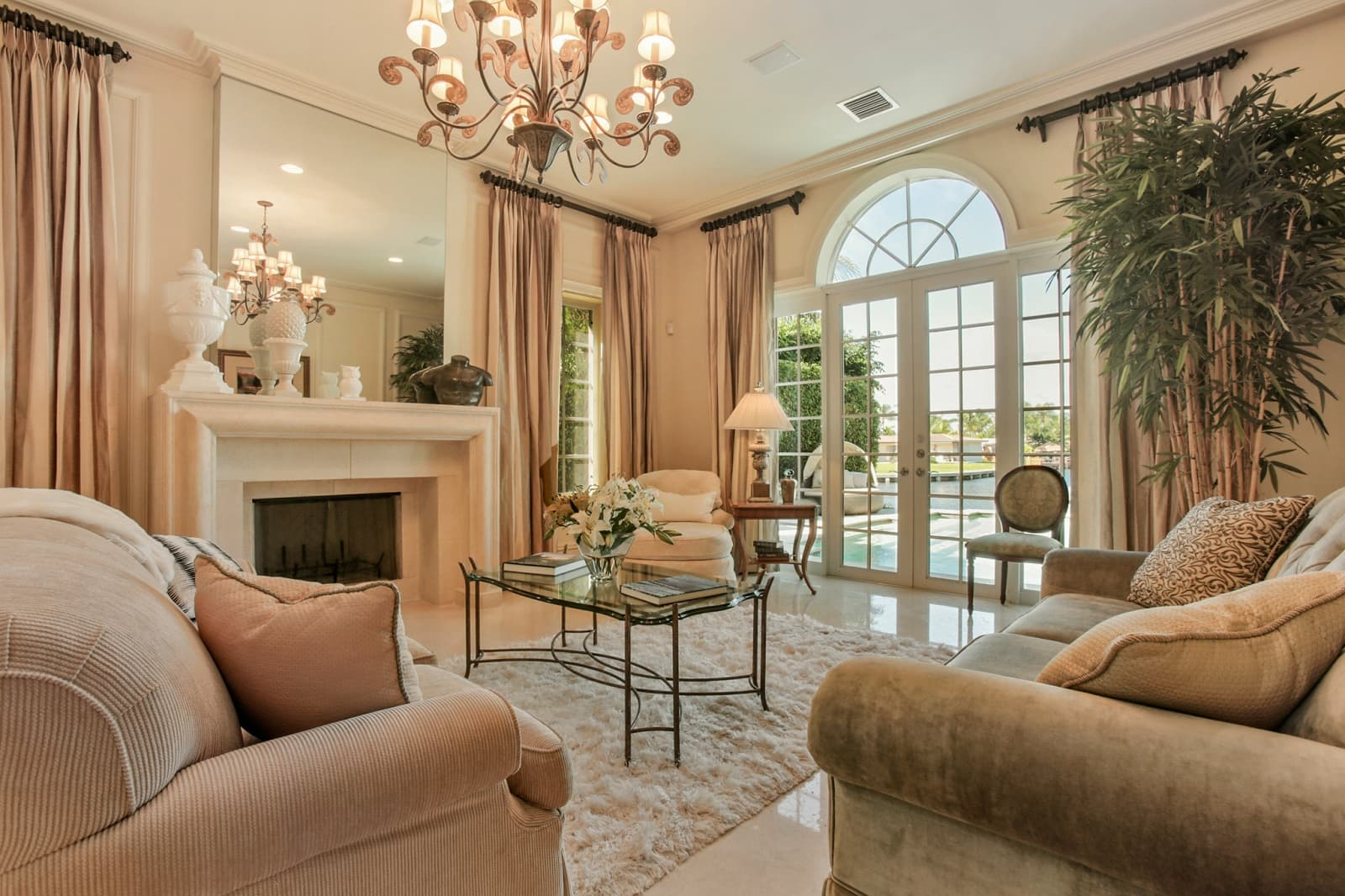 Real Estate Photography in Boca Raton - FL - USA - Living Area View