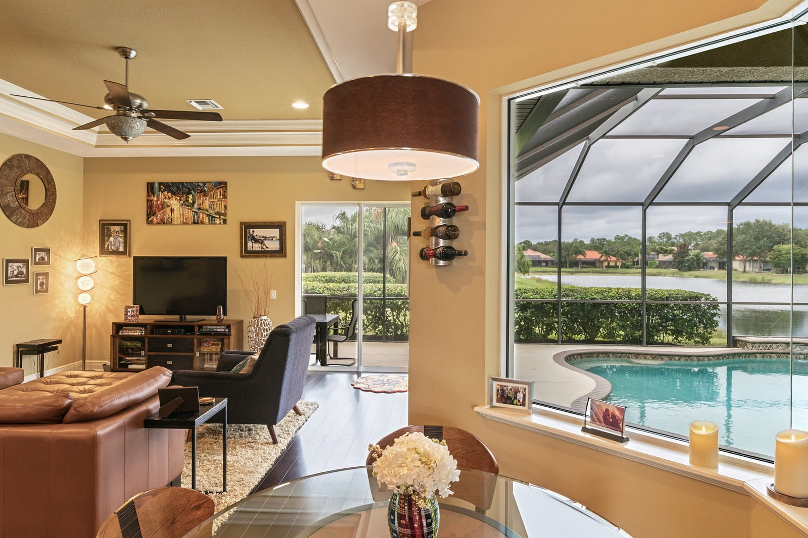 Real Estate Photography in Sarasota - FL - USA - Living Area View